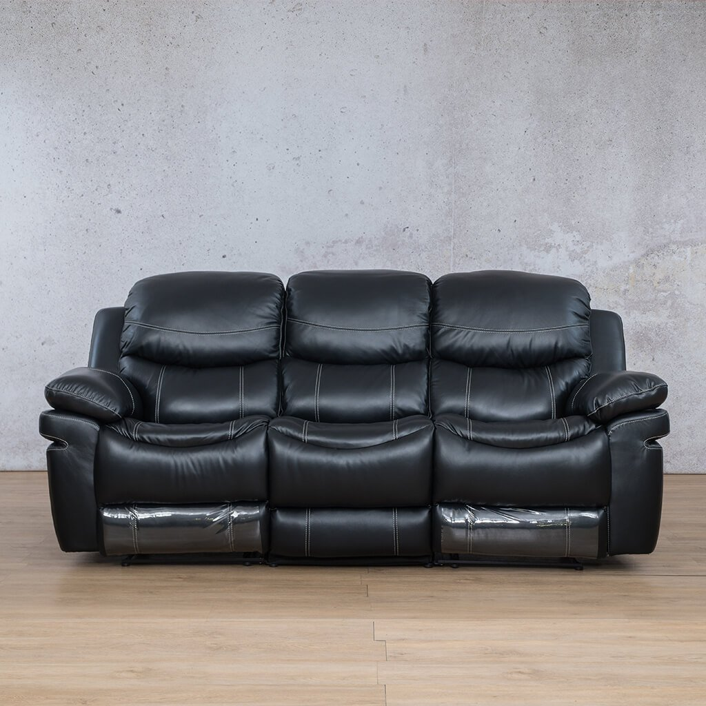 Geneva 3 Seater Leather Recliner