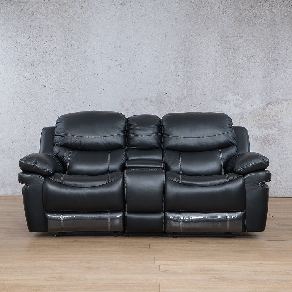 Geneva Leather Recliner Couch | 2 Seater Couch | Black-G | Couches For Sale | Leather Gallery Couches