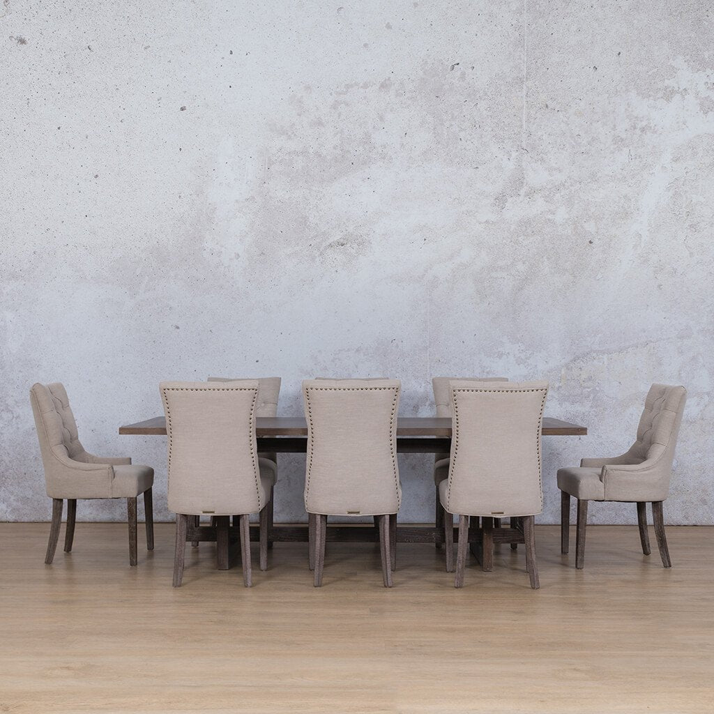 Bolton Wood Top & Duchess | 8 Seater | Dining Set | Leather gallery