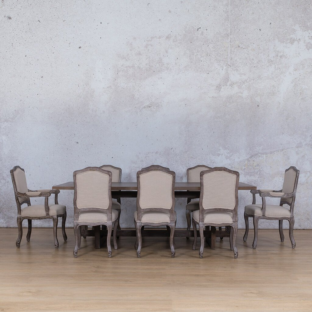 Bolton Wood Top & Duke 8 Seater Dining Set