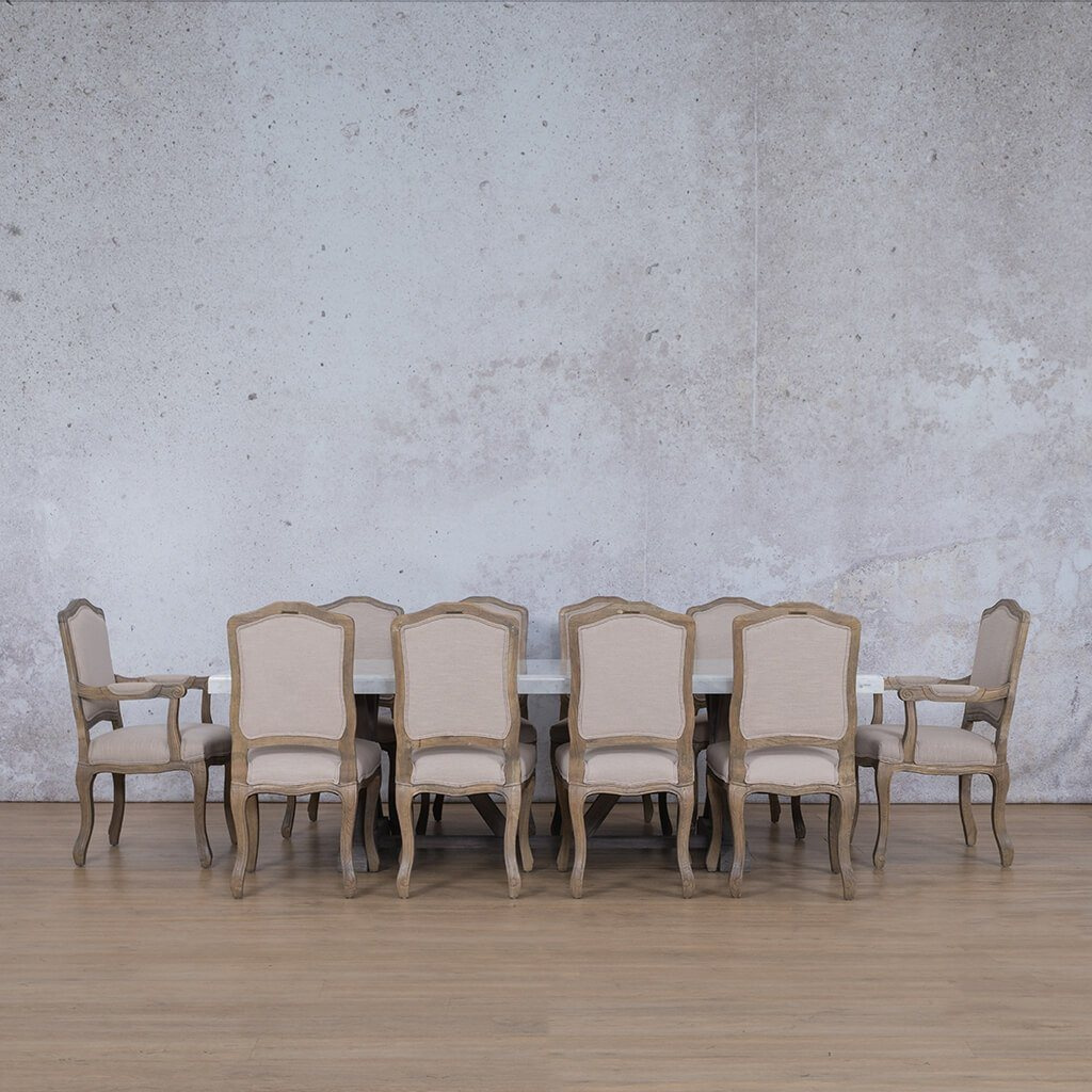 Berkeley Marble Top & Duke | 10 Seater | Dining Set | Leather Gallery