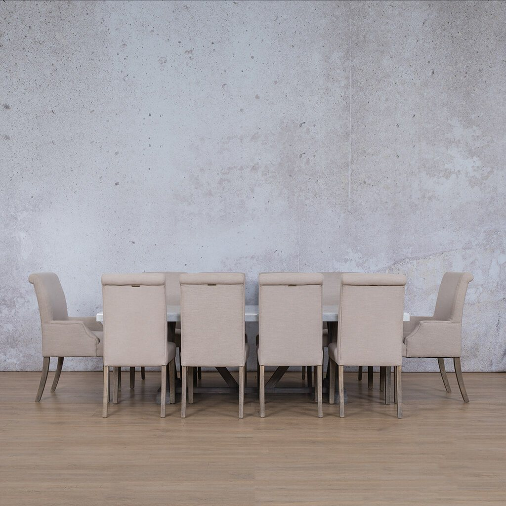 Berkeley Marble Top & Baron | 10 Seater | Dining Set | Leather Gallery