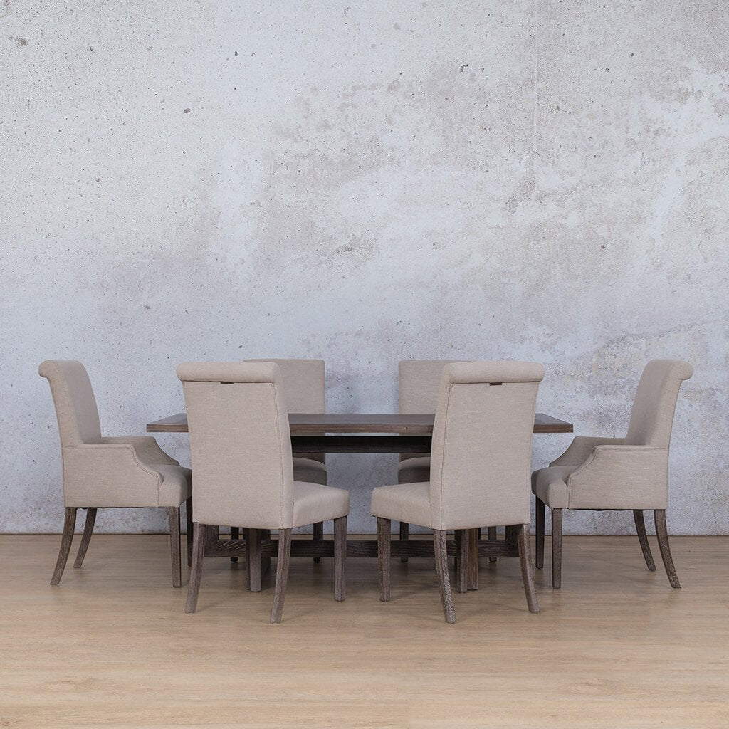 Bolton Wood Top & Baron 6 Seater Dining Set