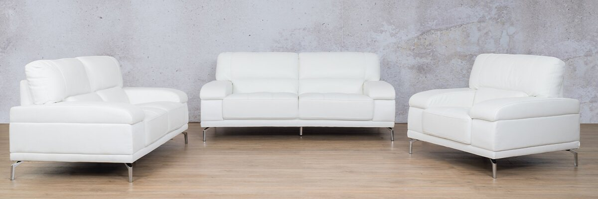 Adaline Leather Couches | 3-2-1 Seater Couches | Couches for Sale | White-6 | Leather Gallery Couches