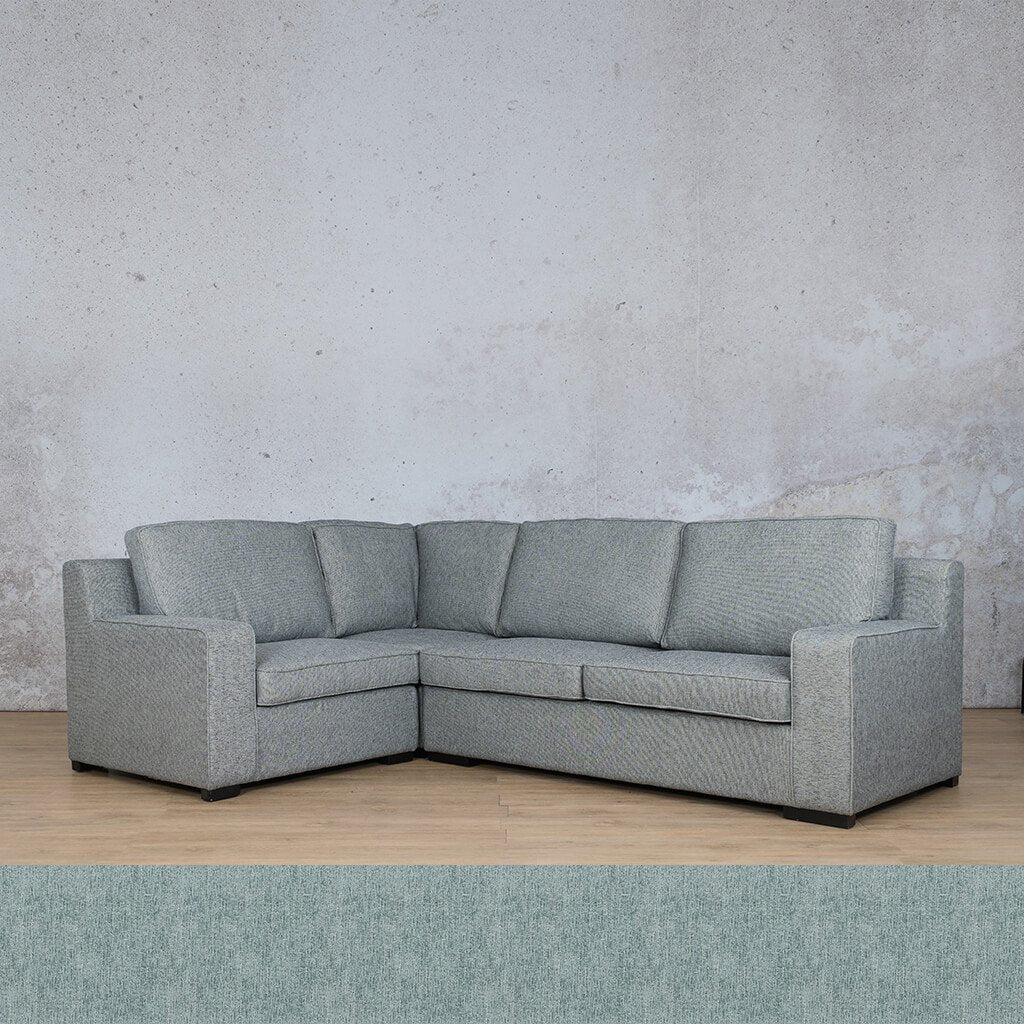 Arizona Fabric | L-Sectional 4 Seater LHF | Quail Shell | Leather Gallery