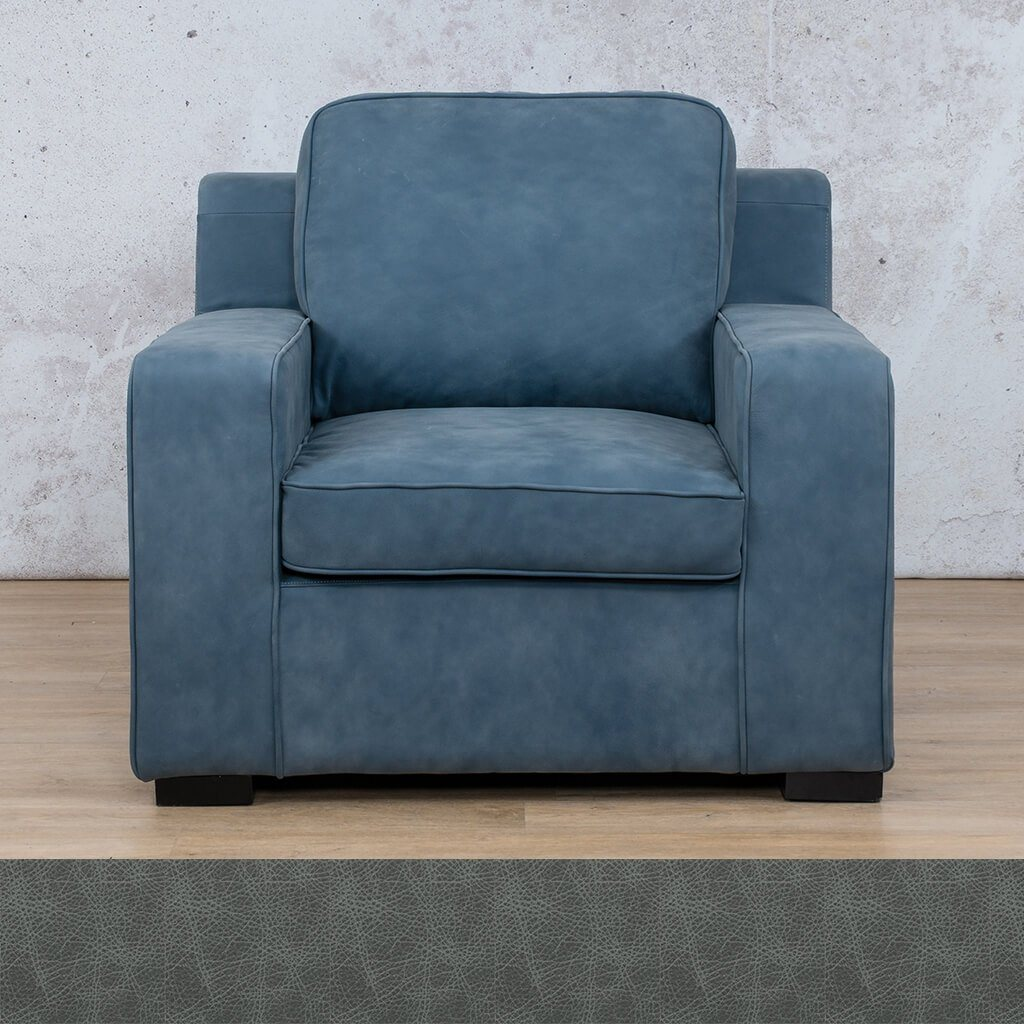 Arizona Leather | 1 Seater | Bedlam Blue Night | Leather Gallery
