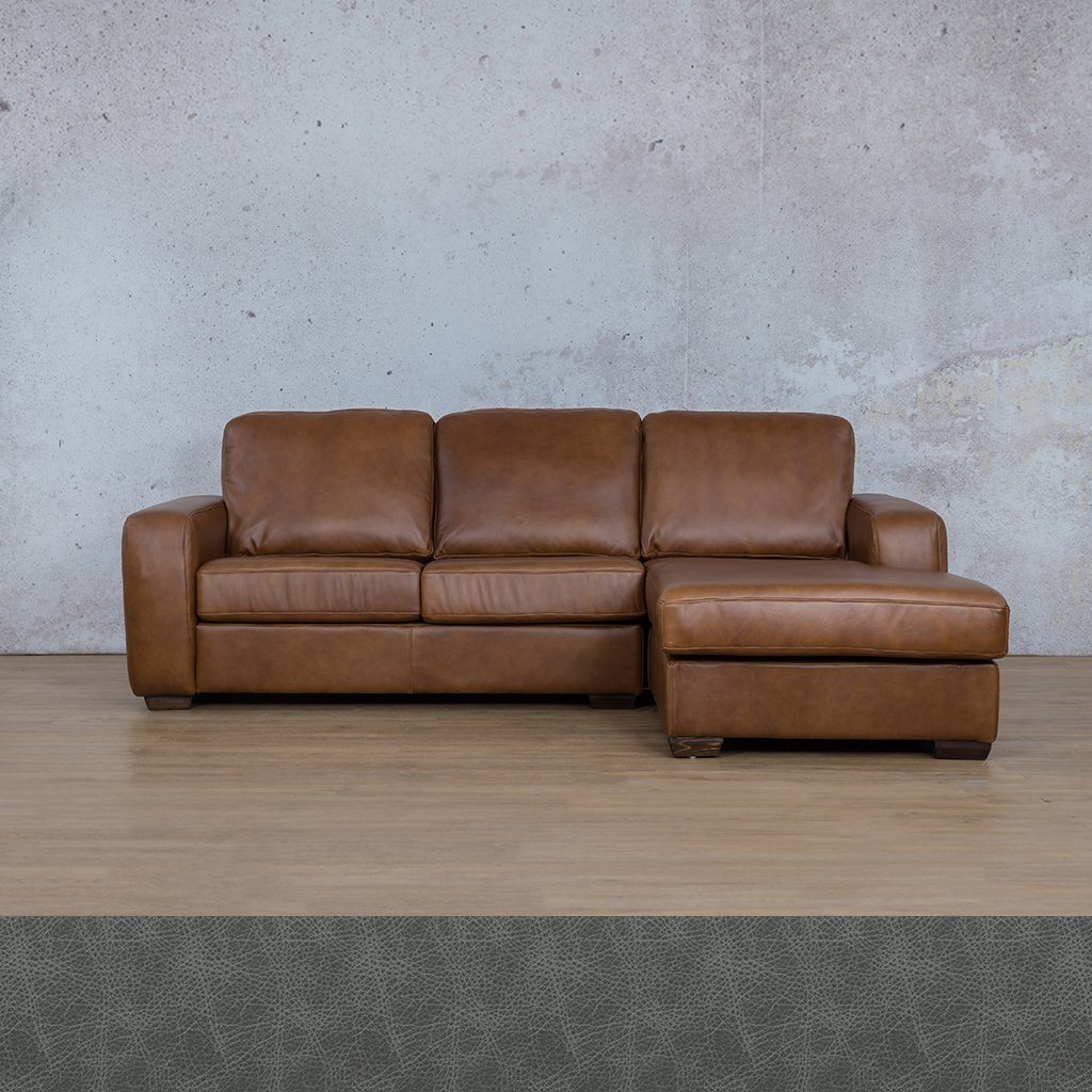 Starnford Leather Corner Couch | Sofa Chaise-RHF | Bedlam Blue Night | Couches For Sale | Leather Gallery Couches