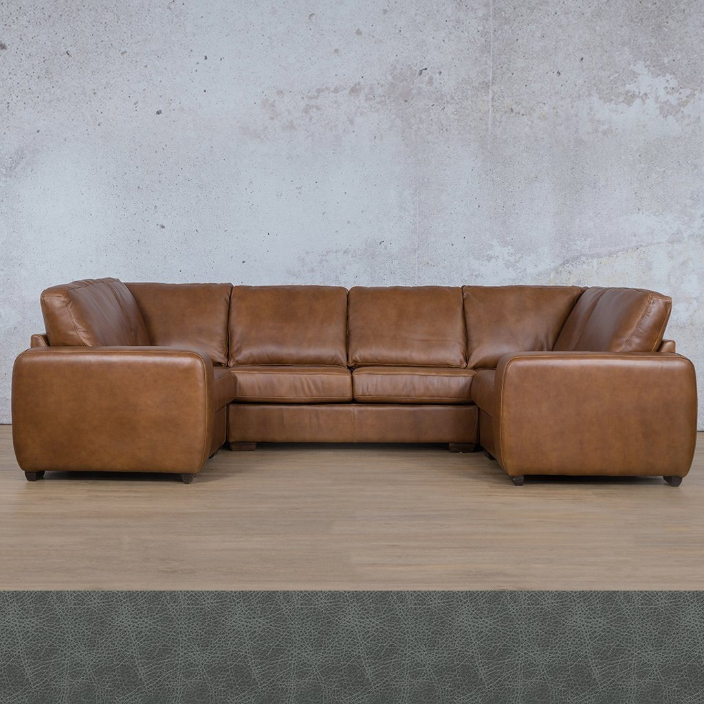 Starnford Leather Corner Couch | U-Sofa Couch | Bedlam Blue Night | Couches For Sale | Leather Gallery Couches
