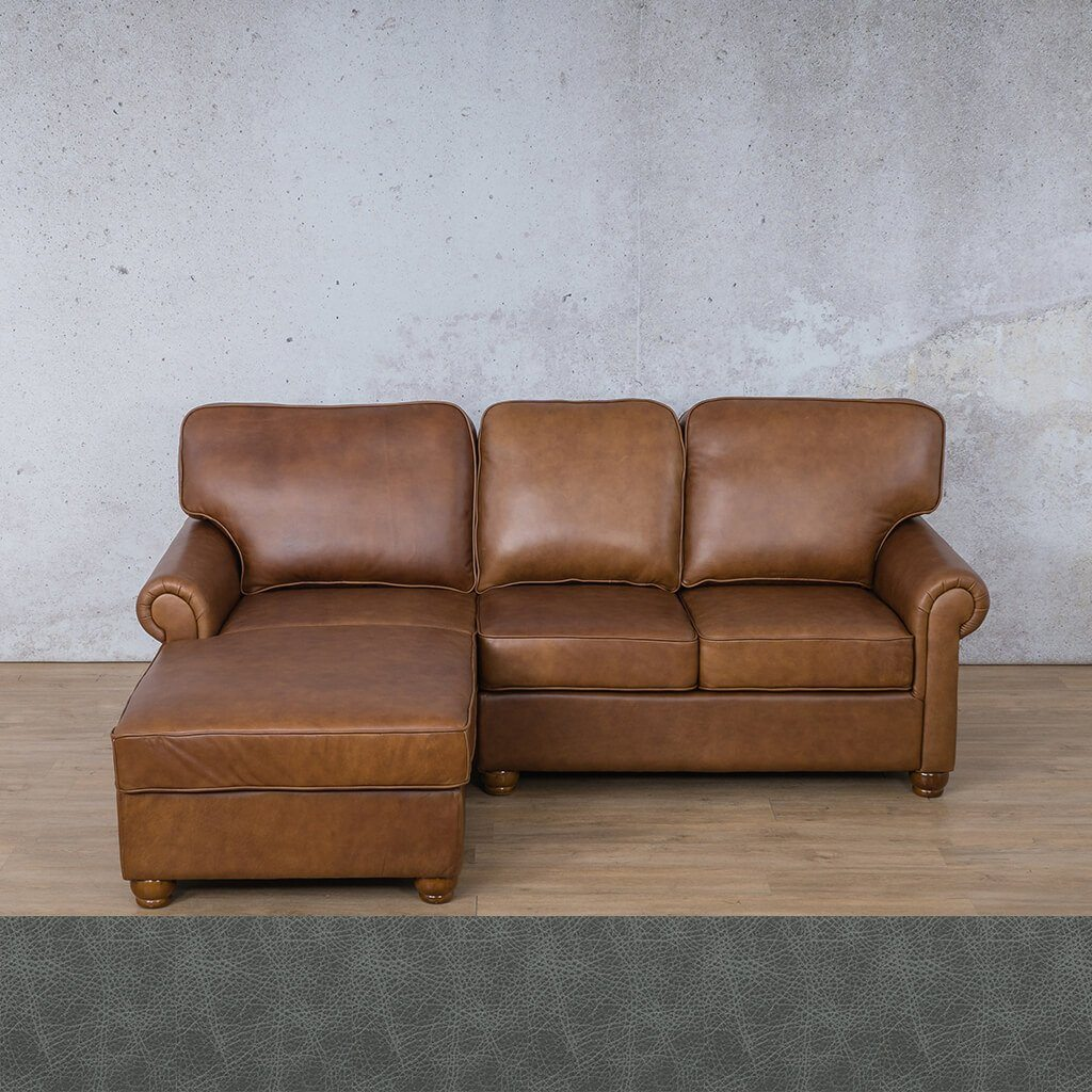 Salisbury Leather Corner Couch | Chaise Sectional-LHF | Bedlam Blue Night | Couches For Sale | Leather Gallery Couches