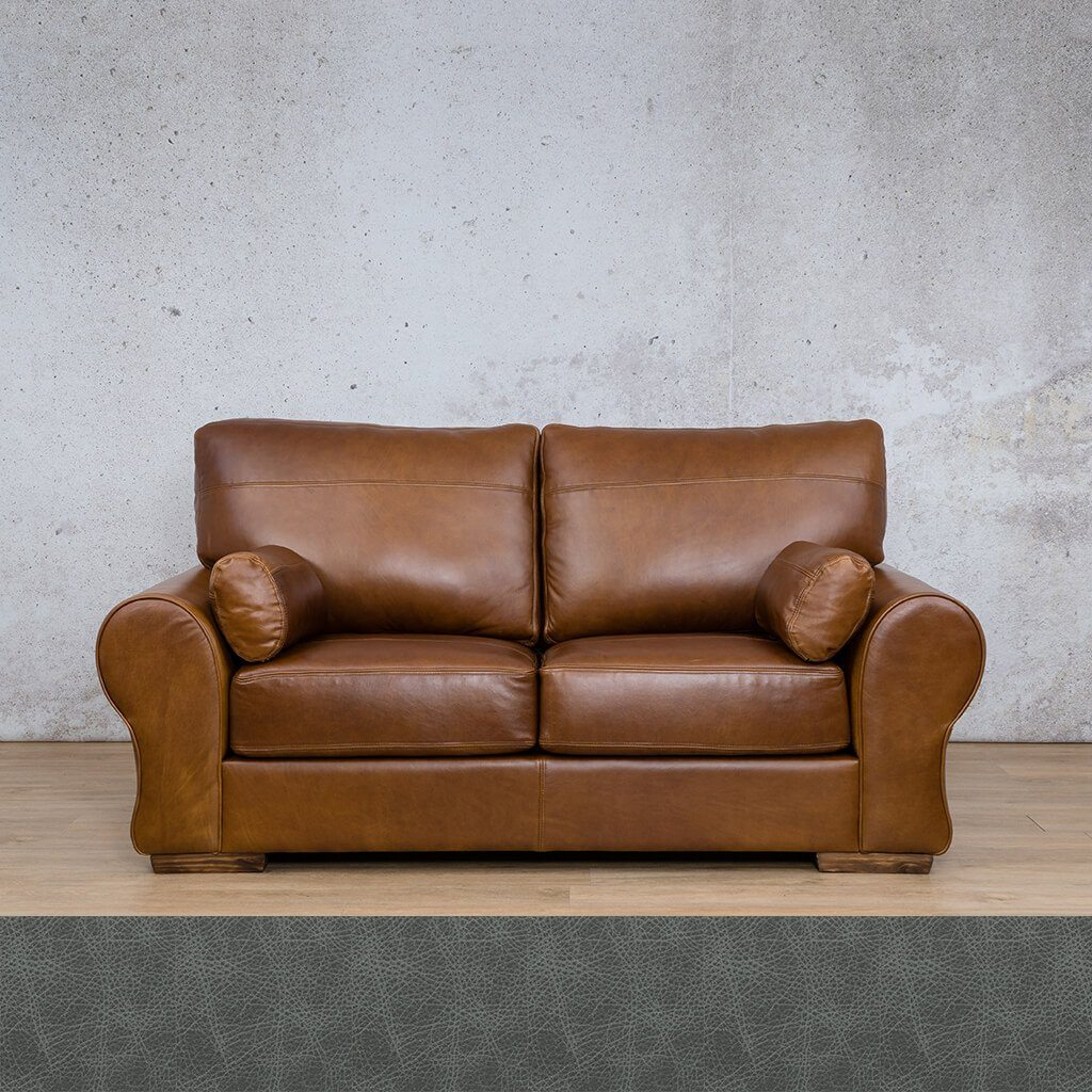 Carolina Leather Couch | 2 Seater Couch | Couches for Sale | Diesel Denim | Leather Gallery Couches