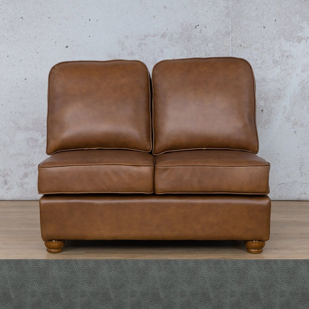 Salisbury Leather Armless 2 Seater
