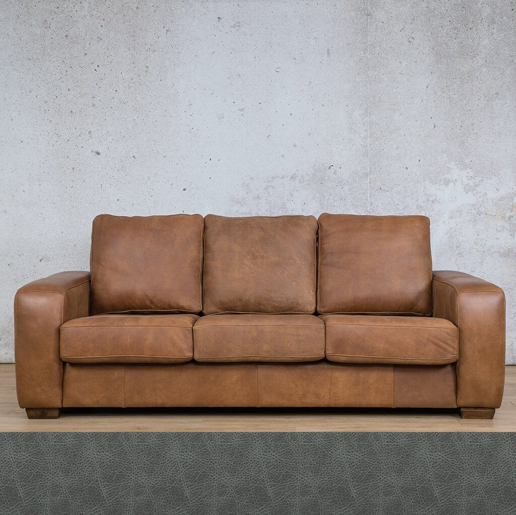 Stanford Leather Couch | 3 Seater Couch | Couches for Sale | Bedlam Blue Night | Leather Gallery Couches