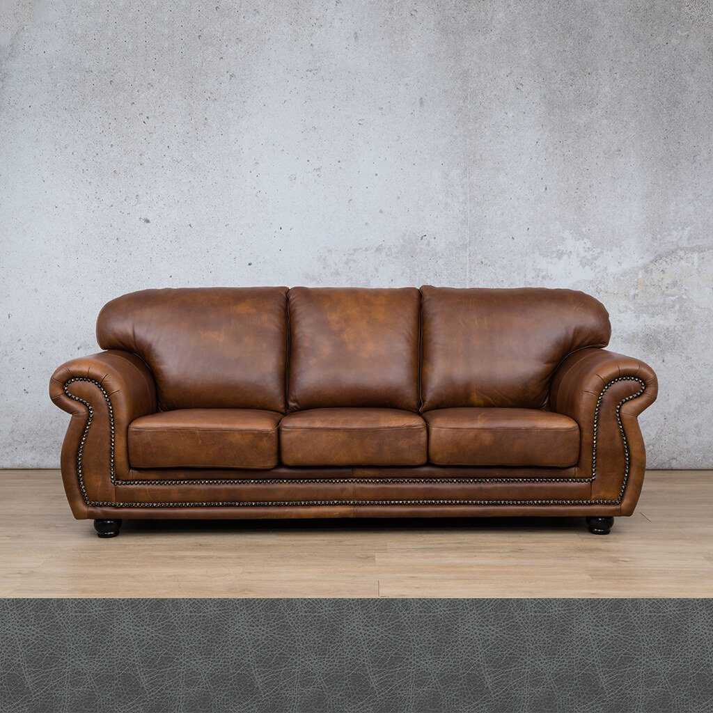 Isilo Leather Couch | 3 Seater Couch | Couches for Sale | Bedlam Blue Night | Leather Gallery Couches