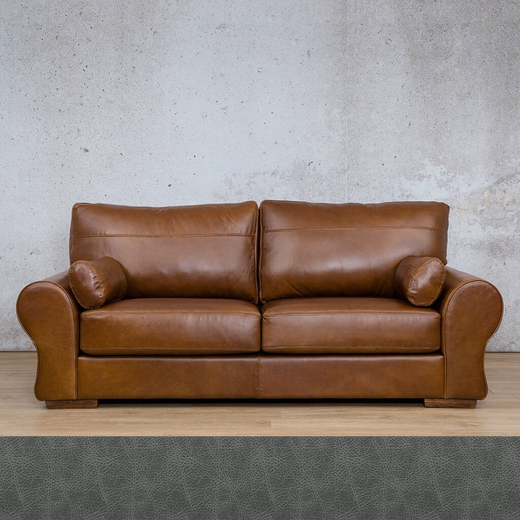 Carolina Leather Couch | 3 Seater Couch | Couches for Sale | Diesel Denim | Leather Gallery Couches