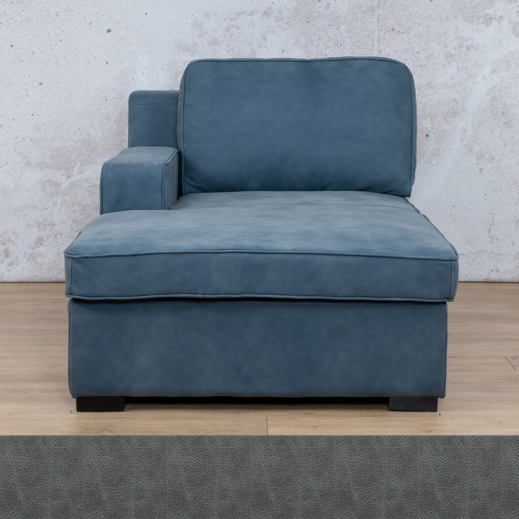 Arizona Leather Couch | Chaise Right Arm | Bedlam Blue Night | Leather Gallery