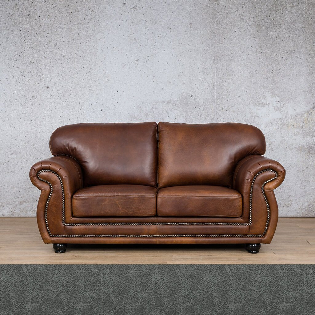 Isilo Leather Couch | 2 Seater Couch | Couches for Sale | Bedlam Blue Night | Leather Gallery Couches