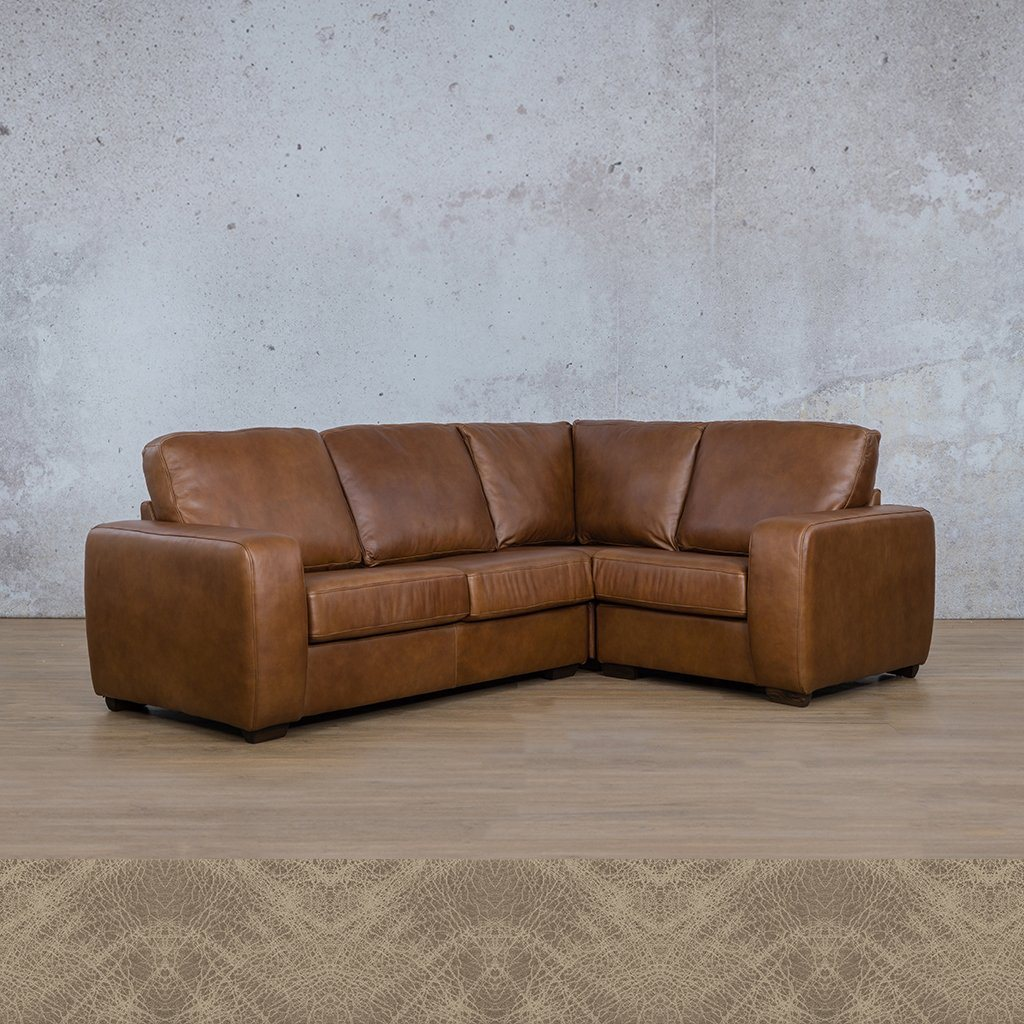 Starnford Leather Corner Couch | L-Sectional 4 Seater-RHF | Bedlam Taupe | Couches For Sale | Leather Gallery Couches