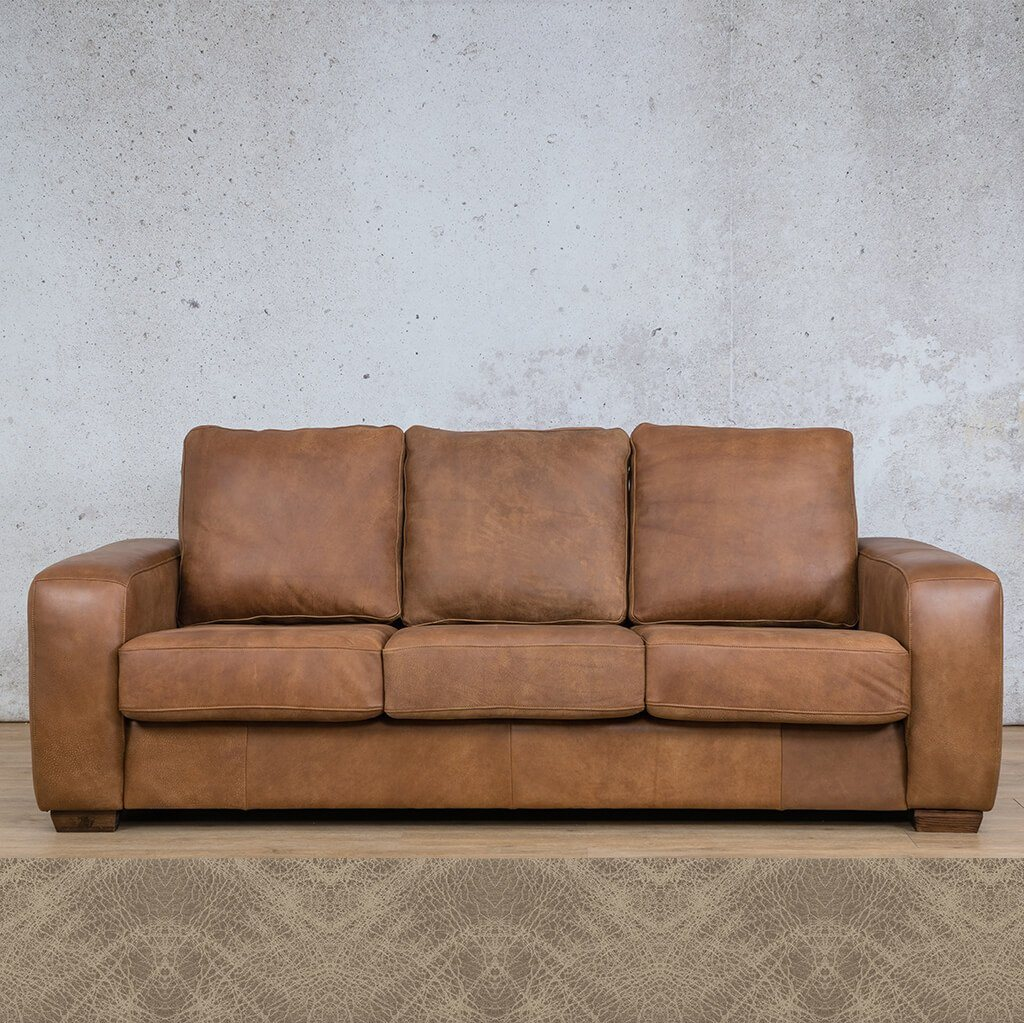 Stanford Leather Couch | 3 Seater Couch | Couches for Sale | Bedlam Taupe | Leather Gallery Couches