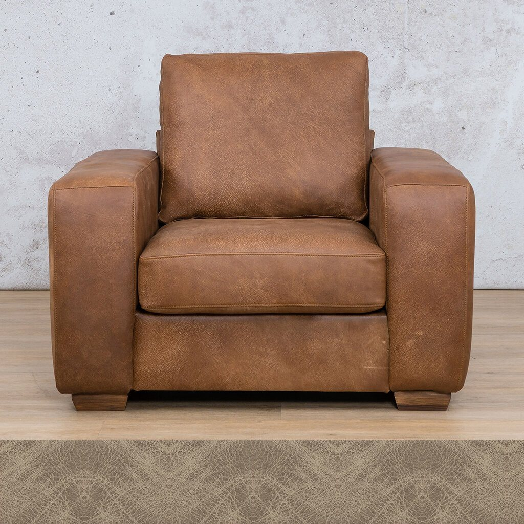 Stanford Leather Couch | 1 seater couch | Bedlam Taupe | Couches for Sale | Leather Gallery Couches