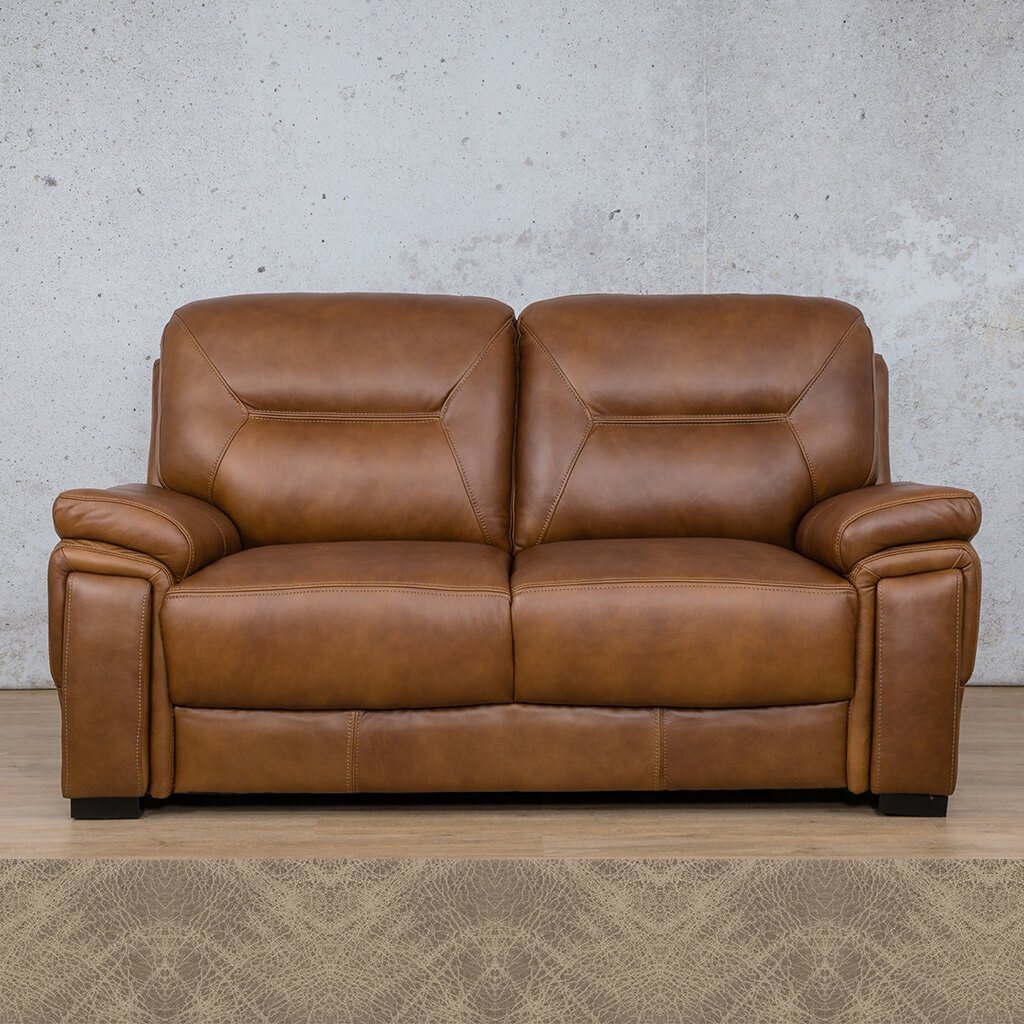 San Lorenze Leather Couch | 2 Seater Couch | Couches for Sale | Bedlam Taupe | Leather Gallery Couches