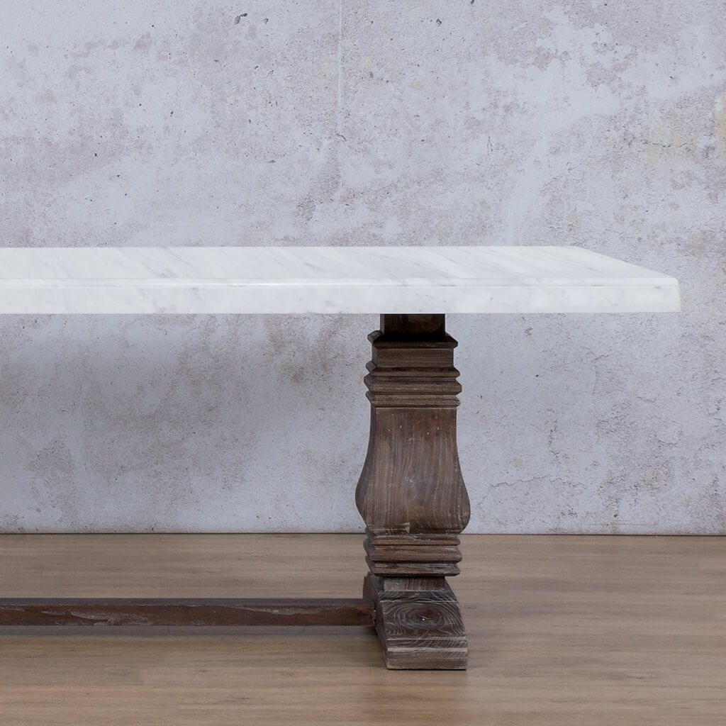 Belmont Marble Dining Table | 2.4m | Leather Gallery