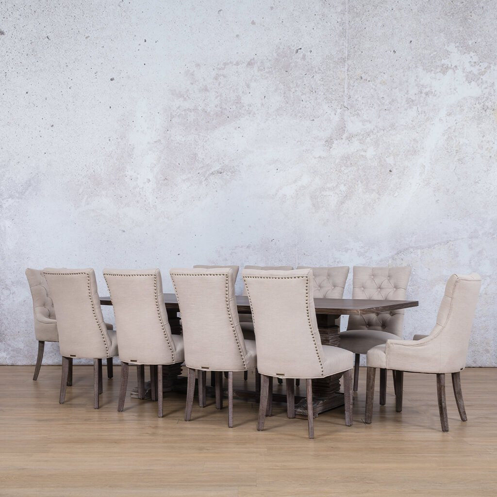 Belmont Wood Top & Duchess 10 Seater Dining Set