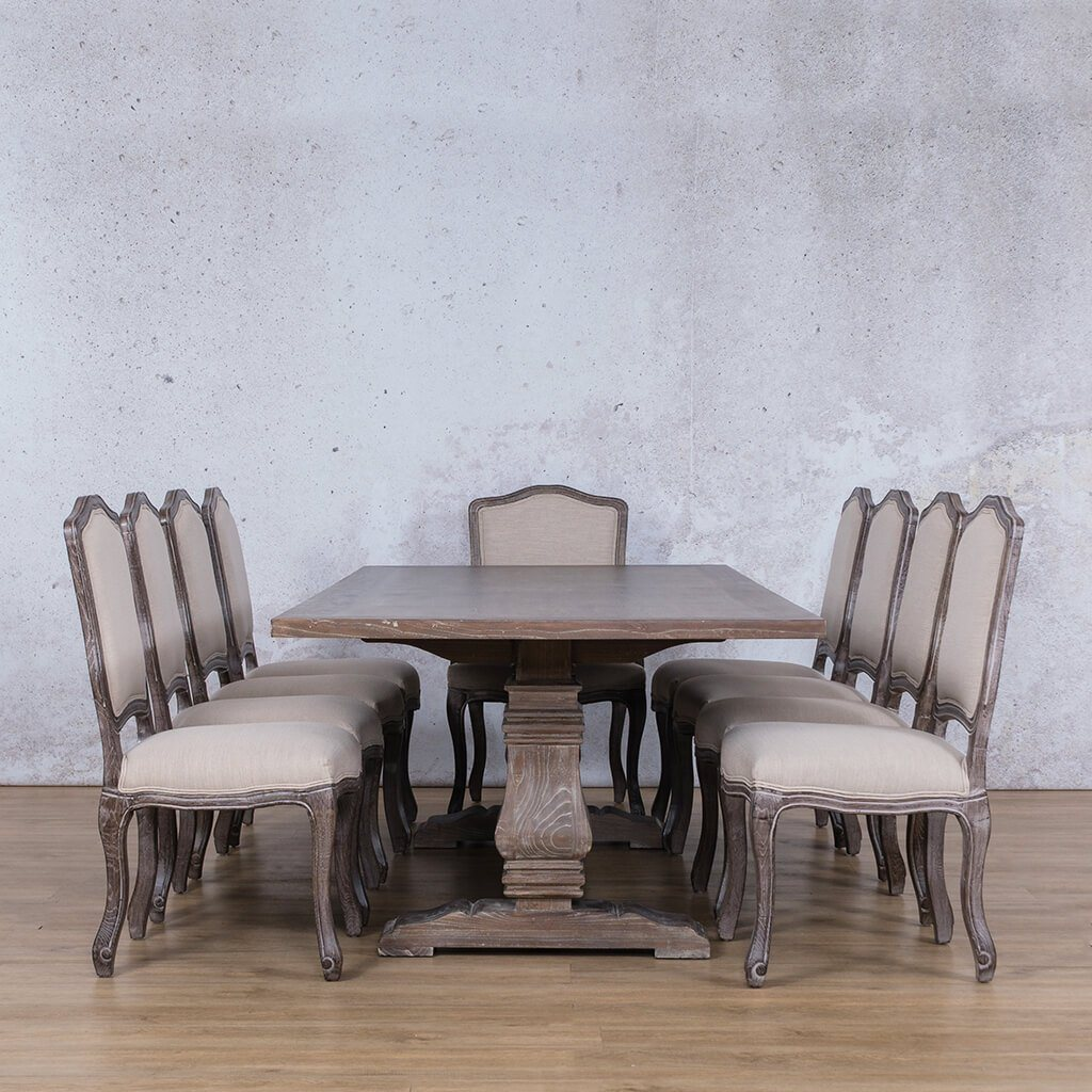 Belmont Wood Top & Duke 10 Seater Dining Set