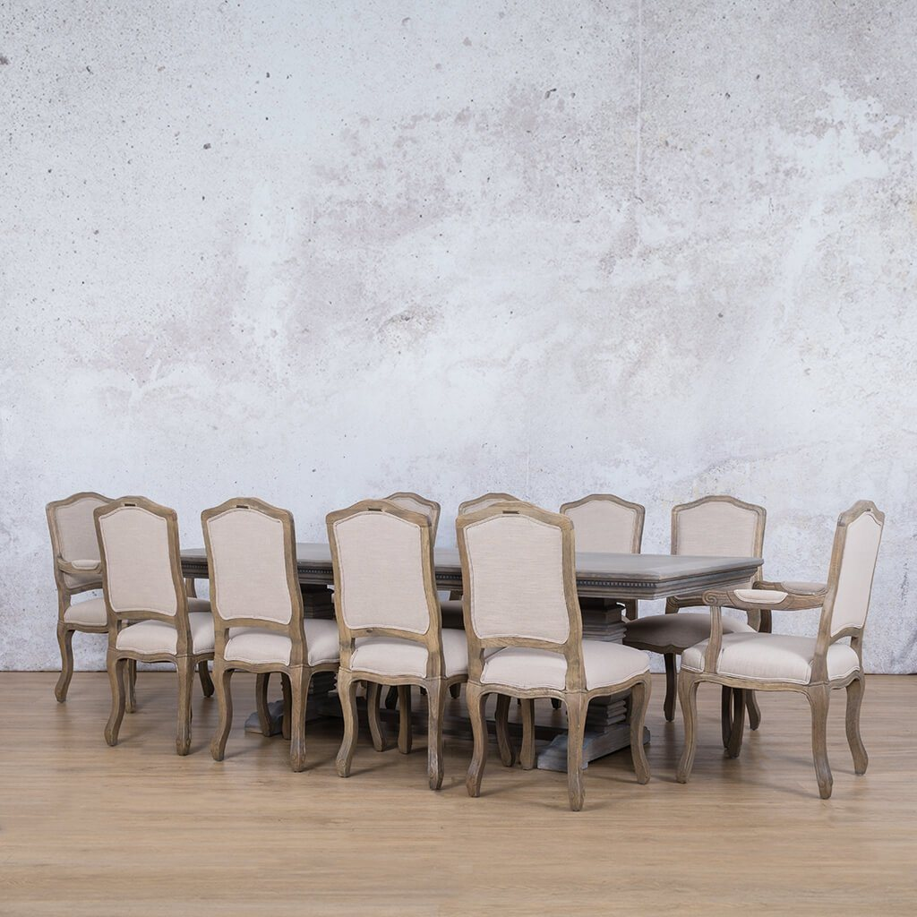 Belmont Fluted Wood Top & Duke 10 Seater Dining Set