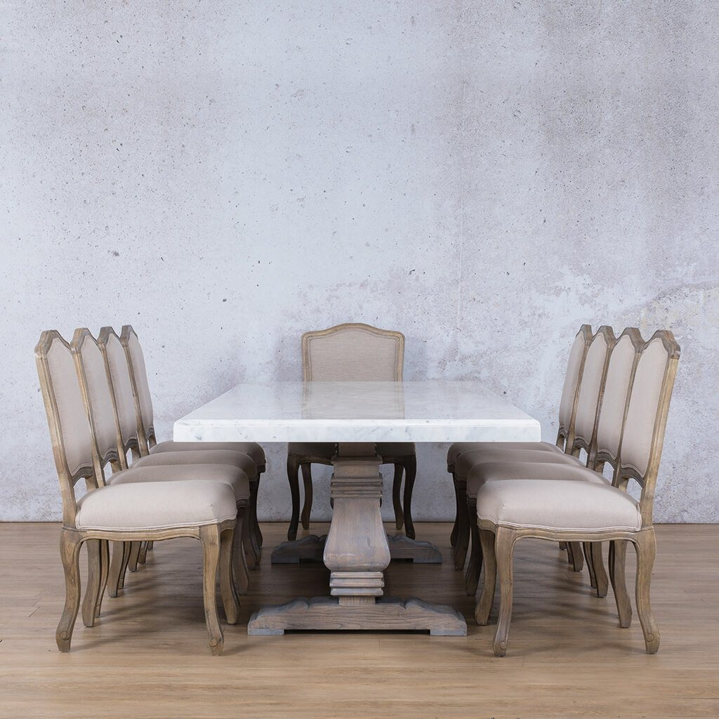 Belmont Marble Top & Duke 10 Seater Dining Set