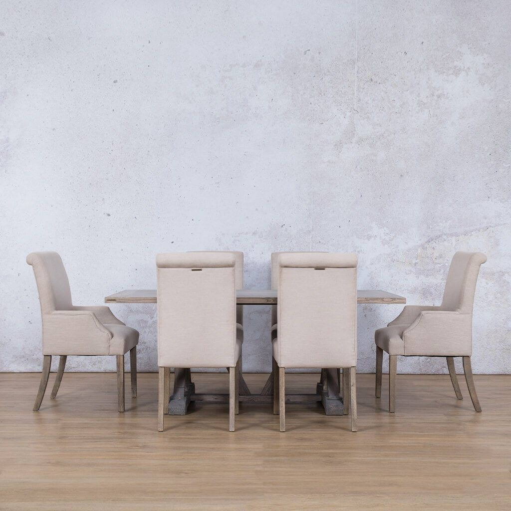 Berkeley Wood Top & Baron 6 Seater Dining Set