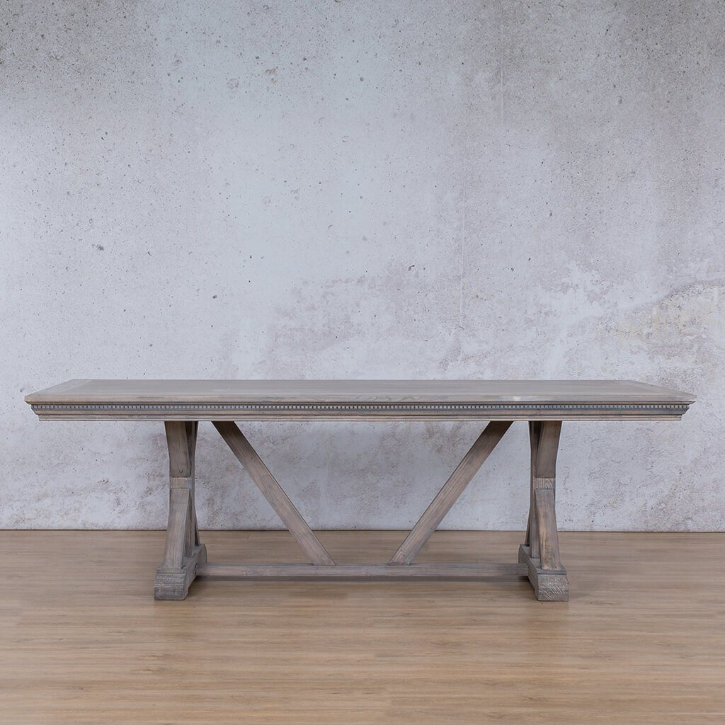 Berkeley Fluted Wood 8 or 10 Seater Dining Table - Antique Grey