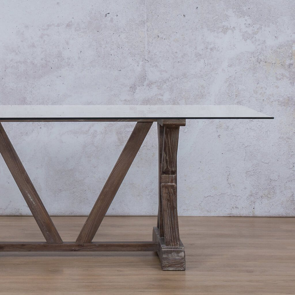 Berkeley Glass Dining Table - 2.4m - 8 or 10 Seater