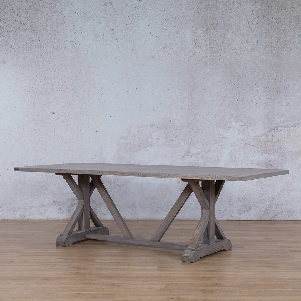 Berkeley Wood 8 or 10 Seater Dining Table - Antique Grey