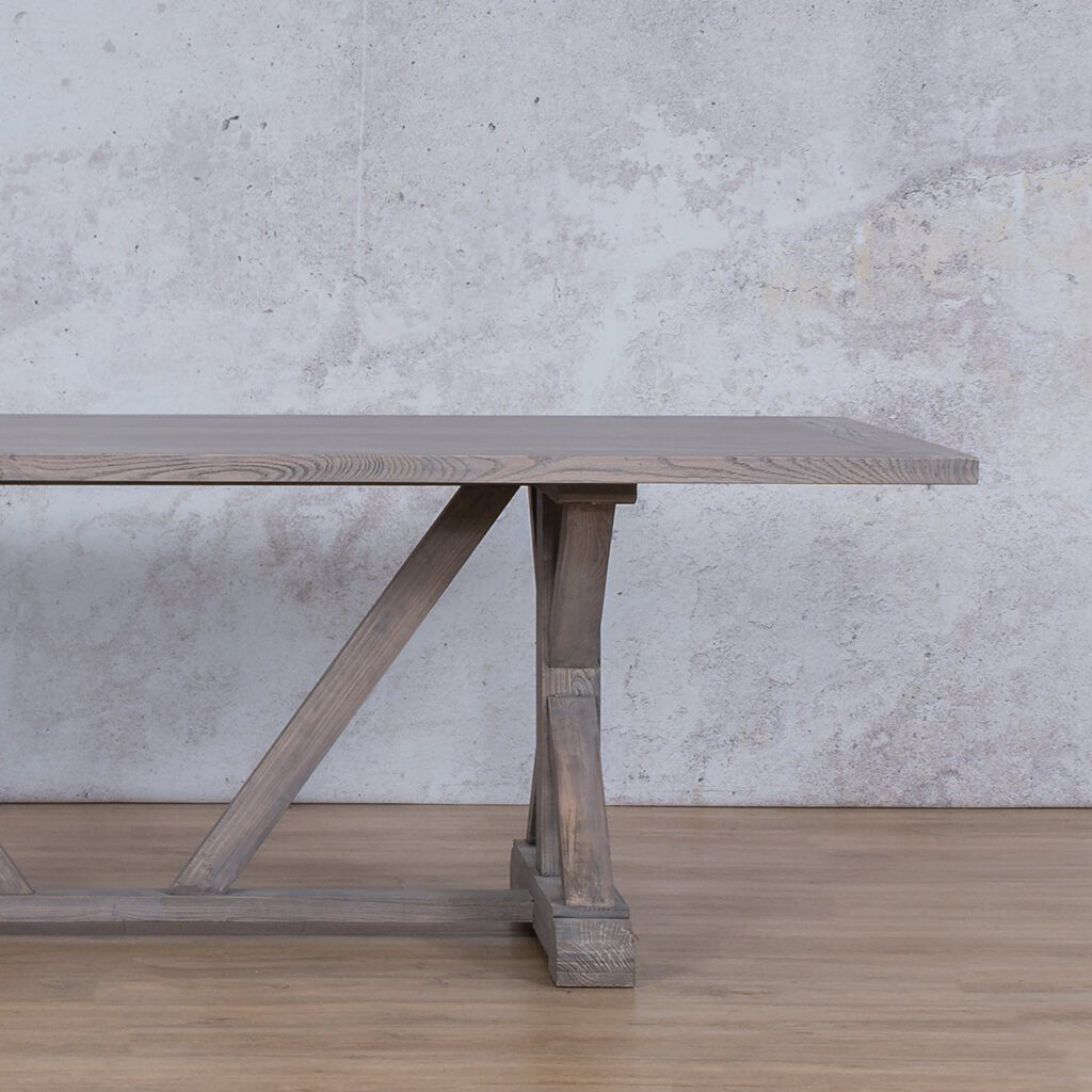 Berkeley Wood Dining Table | 2.4m | 8 or 10 Seater | Leather Gallery