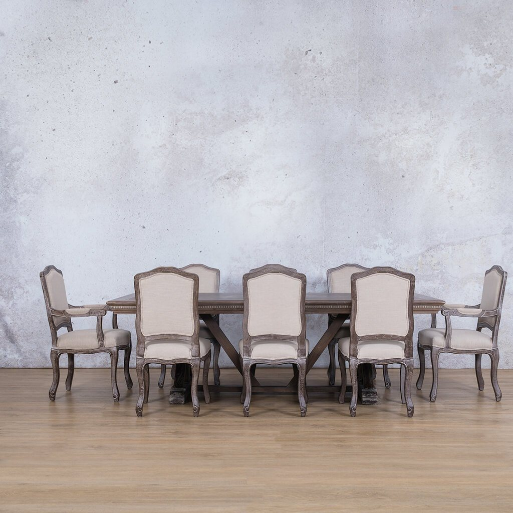 Berkeley Fluted Wood Top & Duke 8 Seater Dining Set