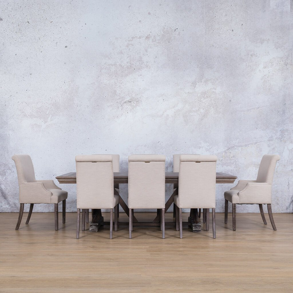 Berkeley Fluted Wood Top & Baron 8 Seater Dining Set