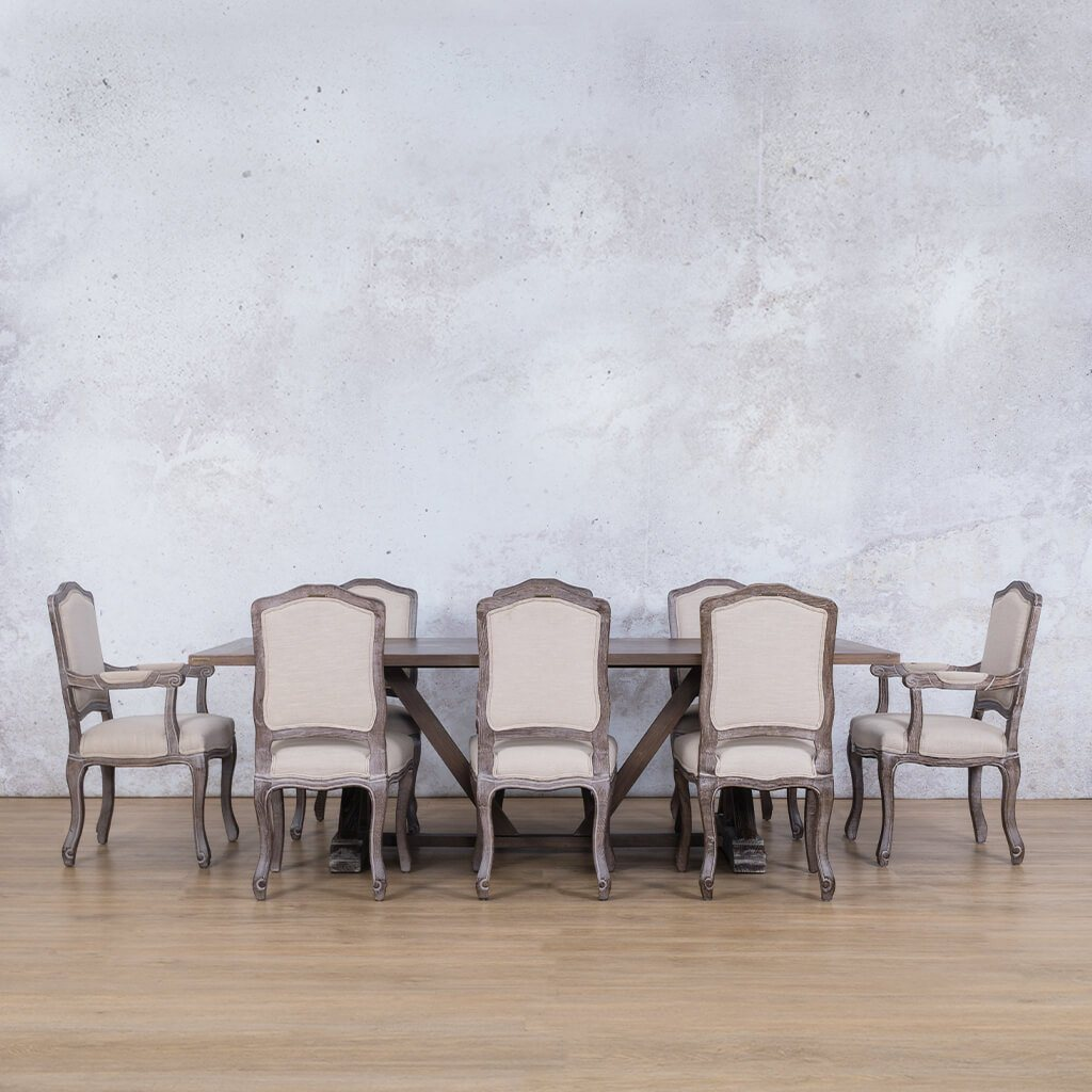 Berkeley Wood Top & Duke | 8 Seater | Dining Set | Leather Gallery