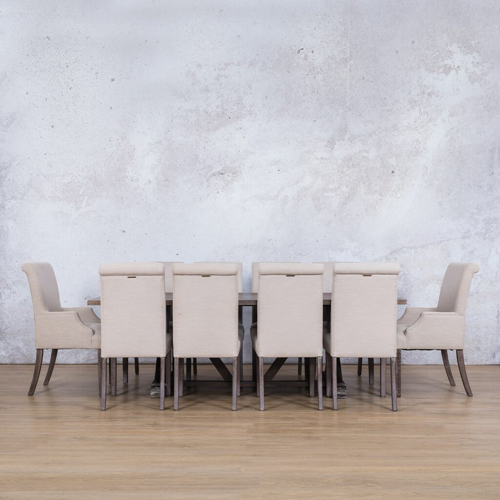 Berkeley Wood Top & Baron | 10 Seater | Dining Set | Leather Gallery