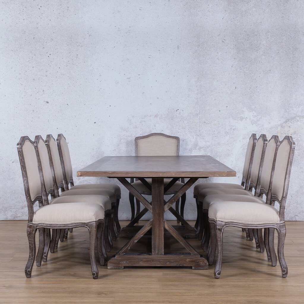Berkeley Wood Top & Duke 10 Seater Dining Set