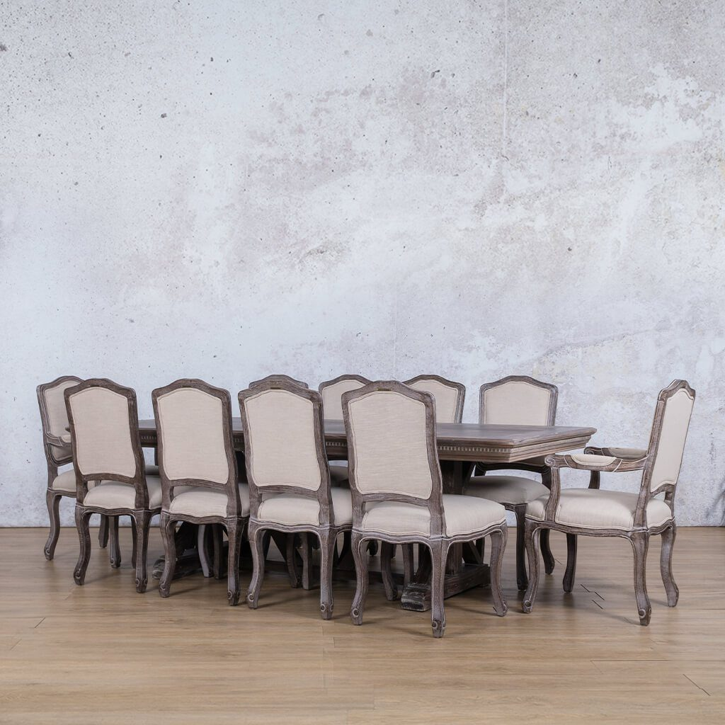 Berkeley Fluted Wood Top & Duke 10 Seater Dining Set