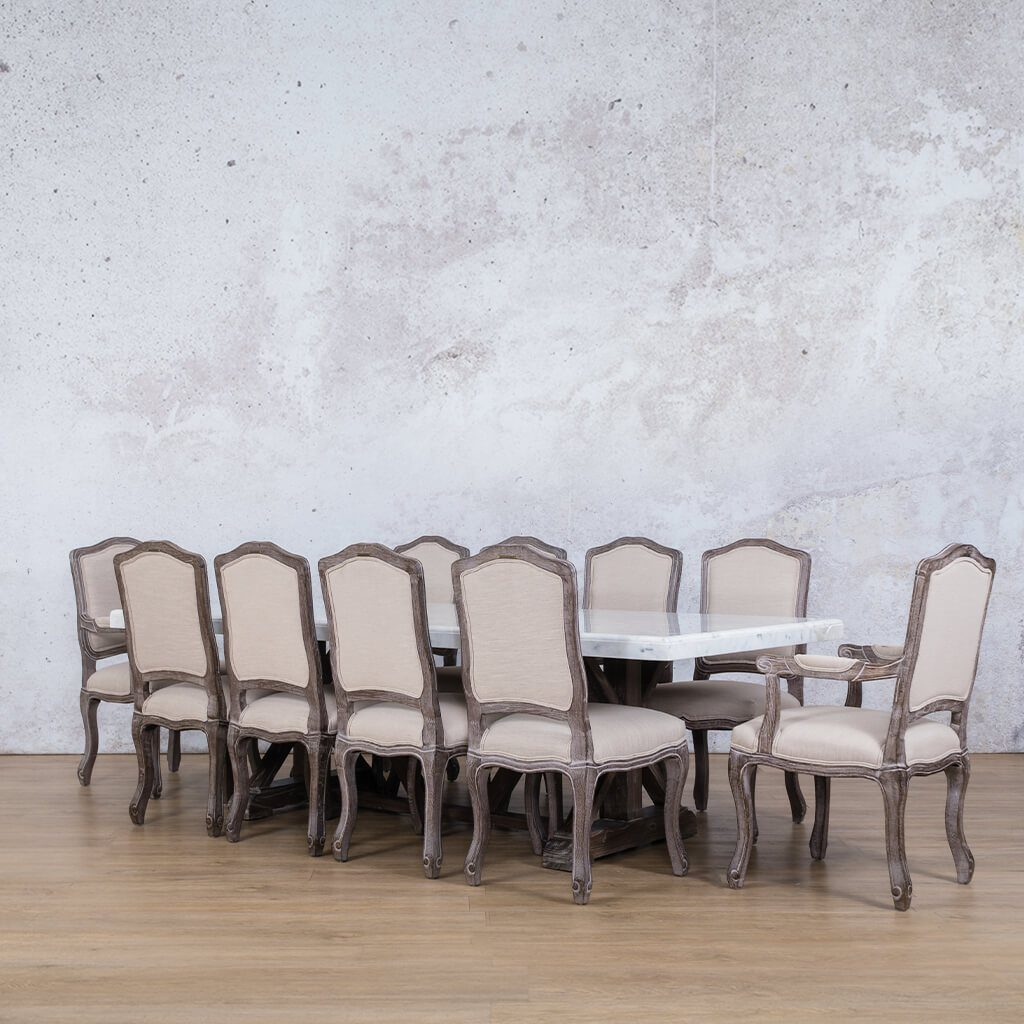 Berkeley Marble Top & Duke 10 Seater Dining Set