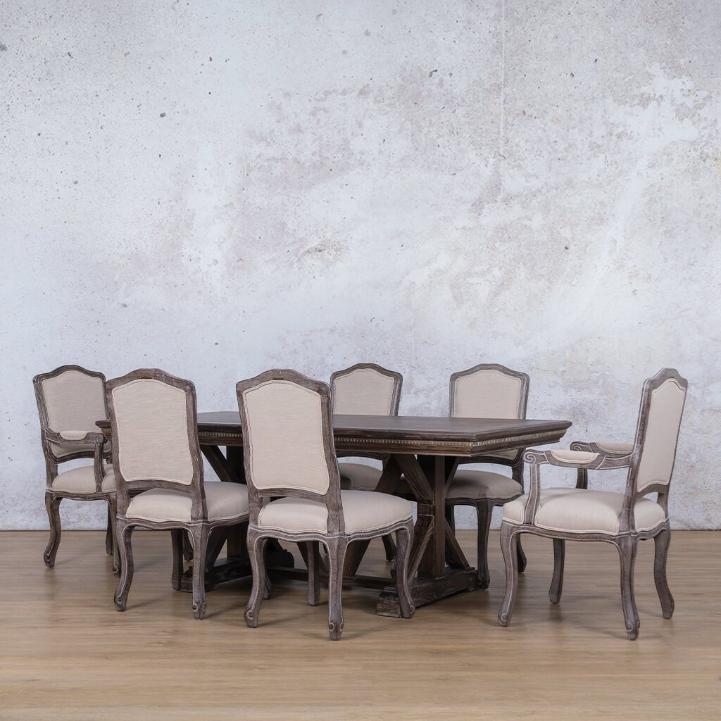 Berkeley Fluted Wood Top & Duke 6 Seater Dining Set