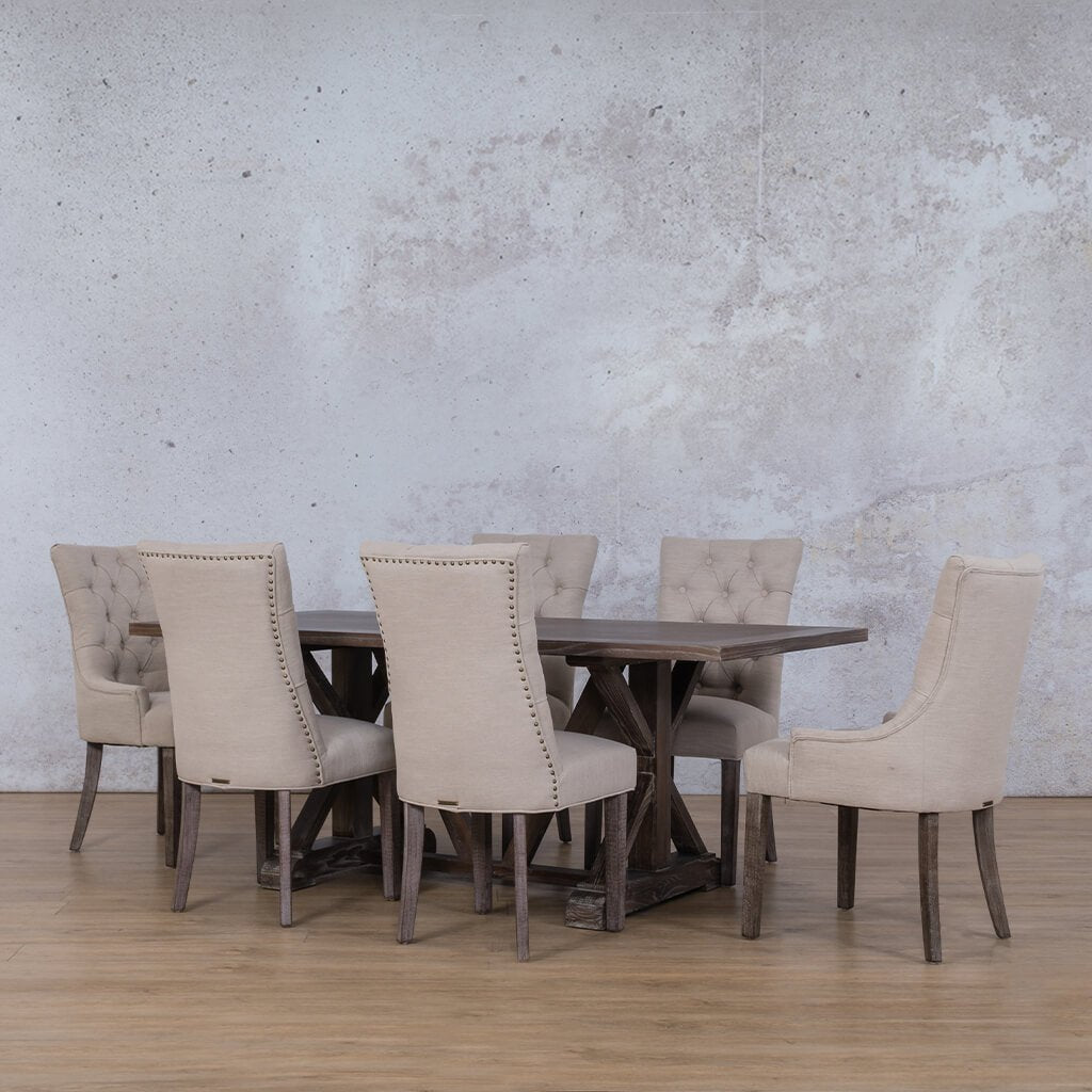 Berkeley Wood Top & Duchess 6 Seater Dining Set
