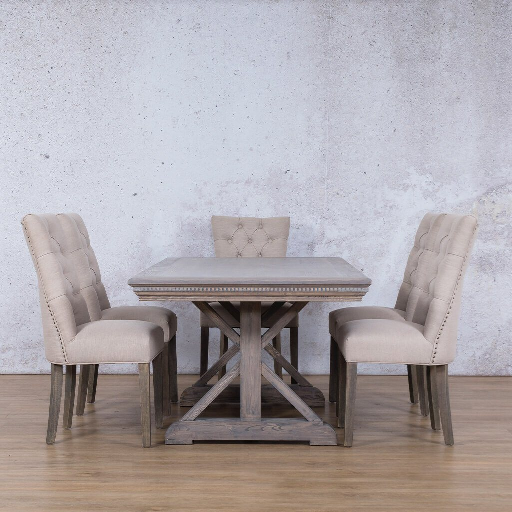 Berkeley Fluted Wood Top & Duchess 6 Seater Dining Set