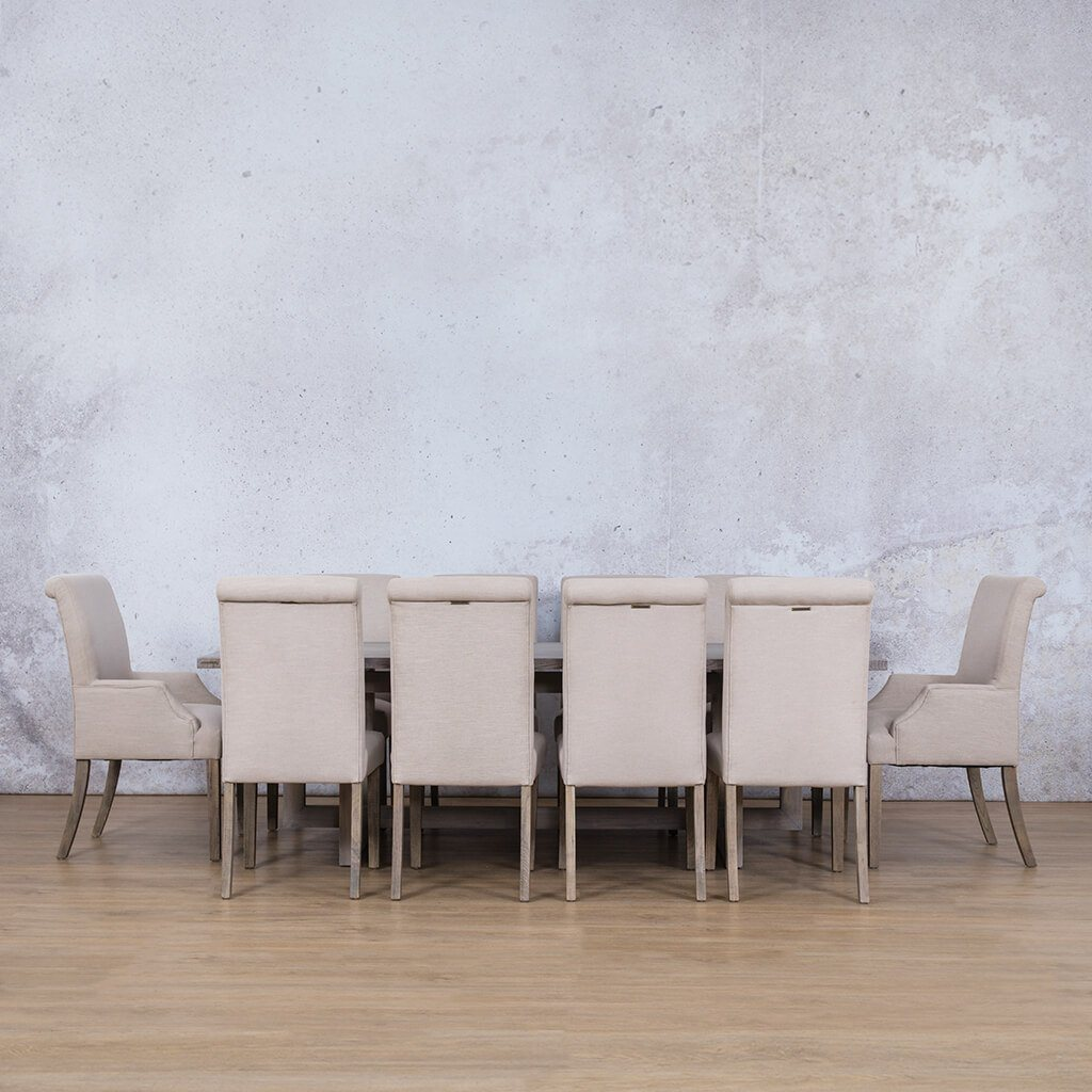 Bolton Wood Top & Baron | 10 Seater | Dining Set | Leather Gallery