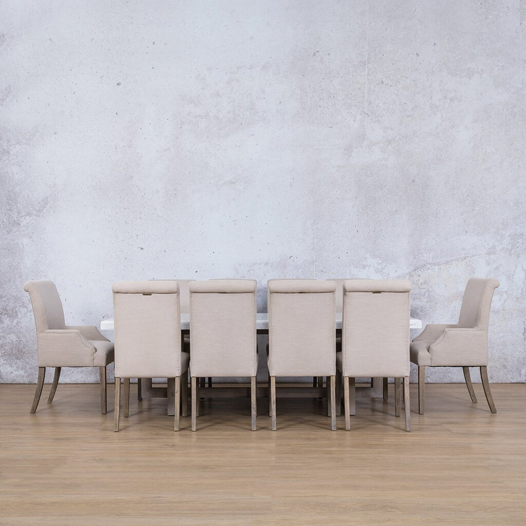 Bolton Marble Top & Baron 10 Seater Dining Set