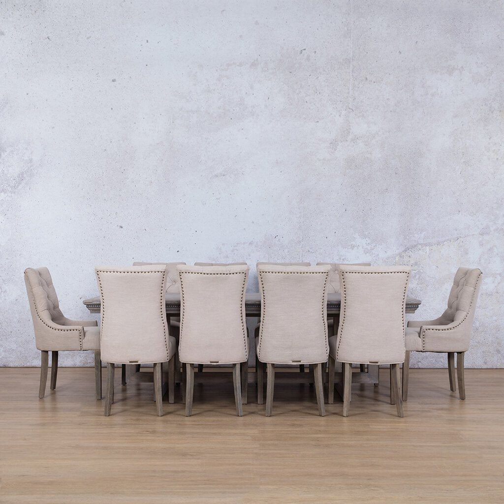 Bolton Fluted Wood & Duchess 10 Seater Dining Set