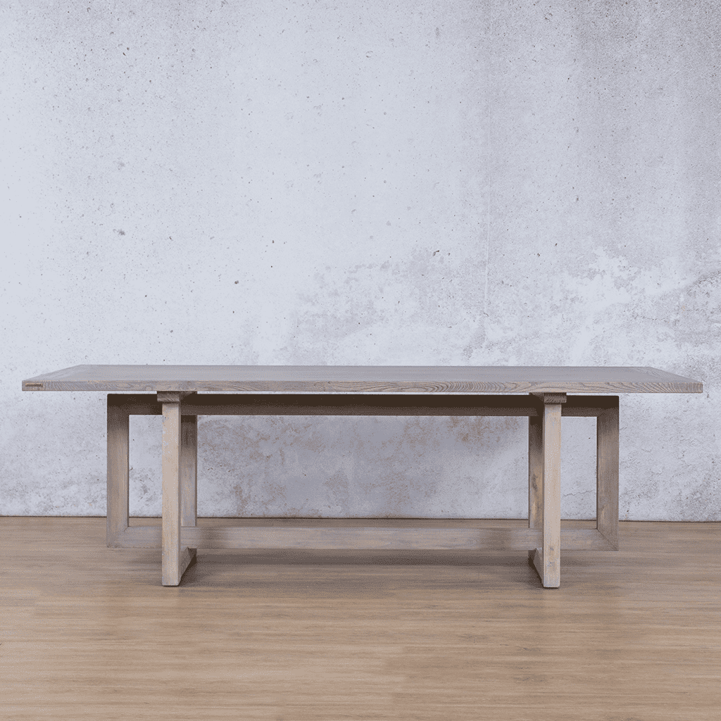 Bolton Wood 8 or 10 Seater Dining Table - Antique Grey