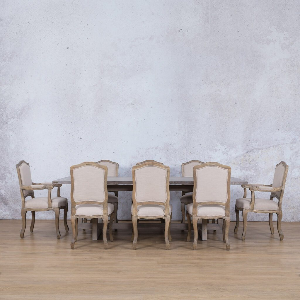 Bolton Wood Top & Duke | 8 Seater | Dining Set | Leather Gallery