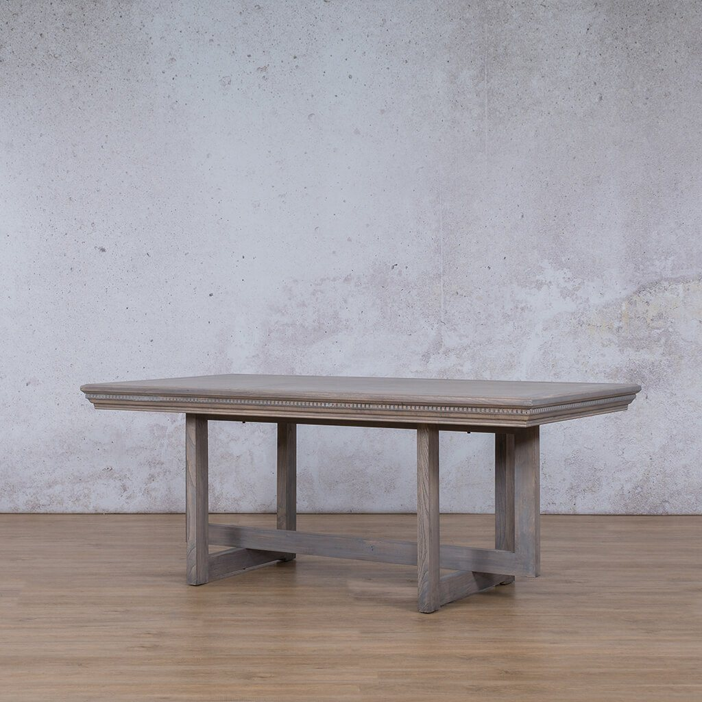 Bolton Fluted Wood 6 Seater Dining Table - Antique Grey